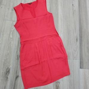 Theory red sleeveless dress sz 2
